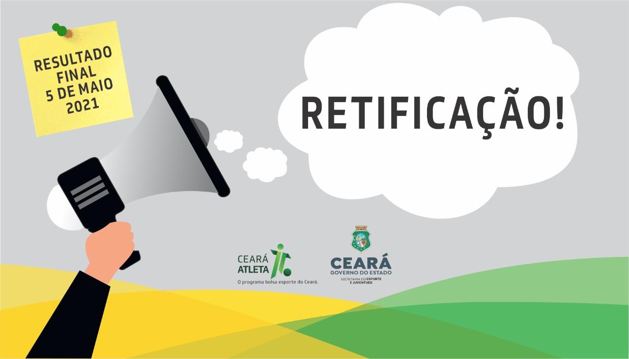 Sejuv divulga retificação do edital nº 001/2020 para seleção e concessão da Bolsa Esporte