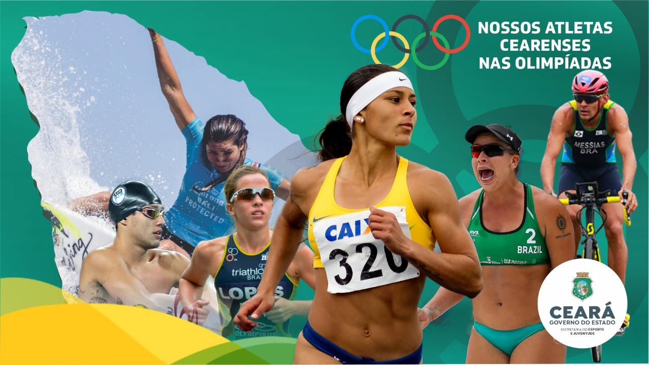 Sejuv lança campanha nas redes sociais para apresentar os atletas Cearenses Olímpicos