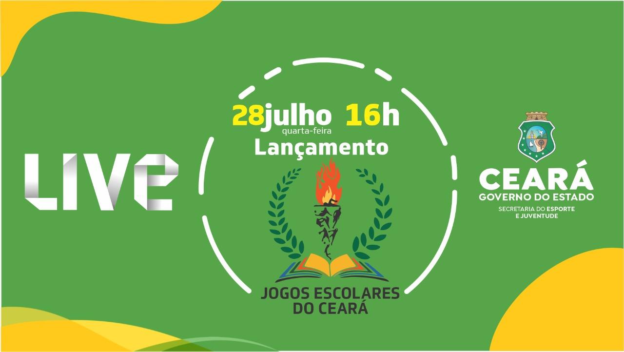 Sejuv realiza lançamento dos Jogos Escolares do Ceará 2021 nesta quarta-feira (28)