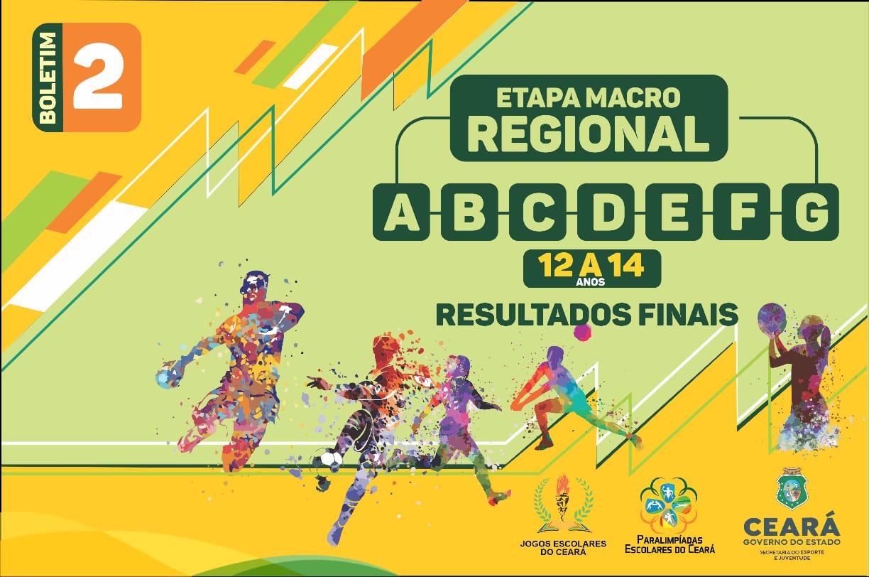 Sejuv divulga boletim nº 02 dos Jogos Escolares referente ao resultado da etapa Macro Regional