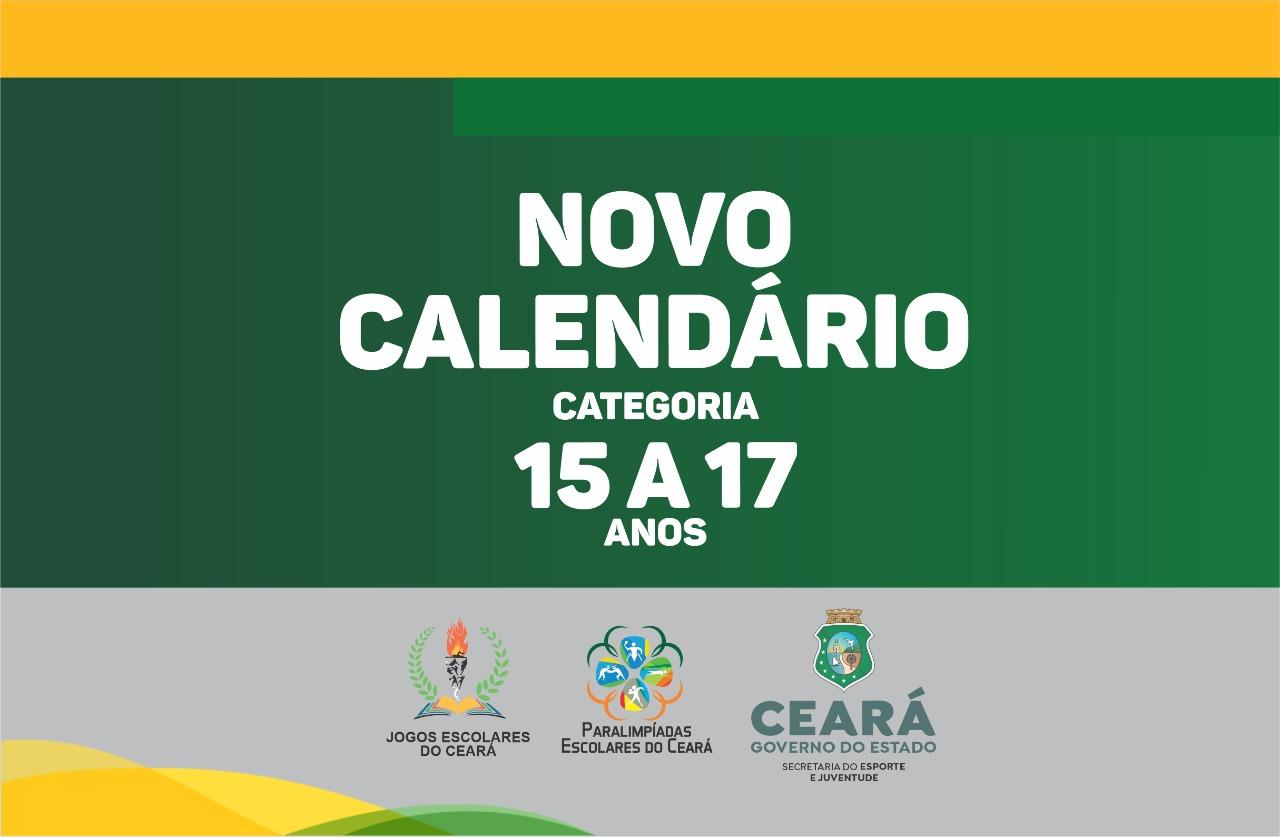 Sejuv divulga calendário dos jogos Escolares do Ceará na categoria 15 a 17 anos