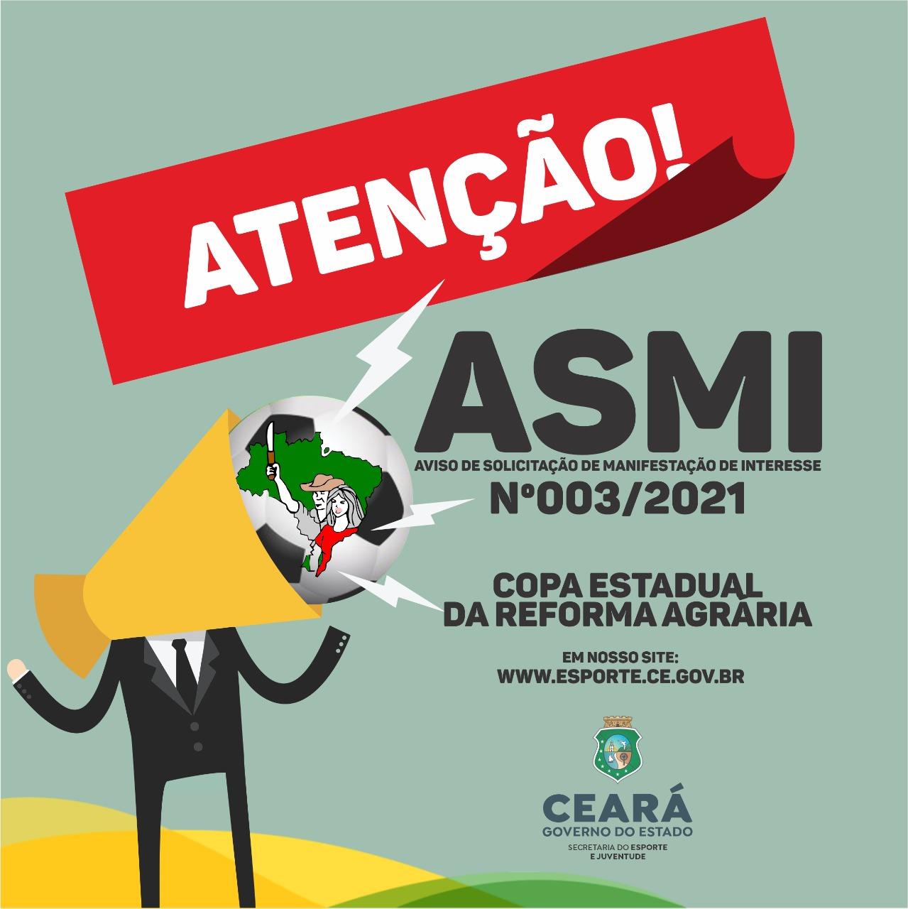 Sejuv divulga ASMI da Copa Estadual da Reforma Agrária